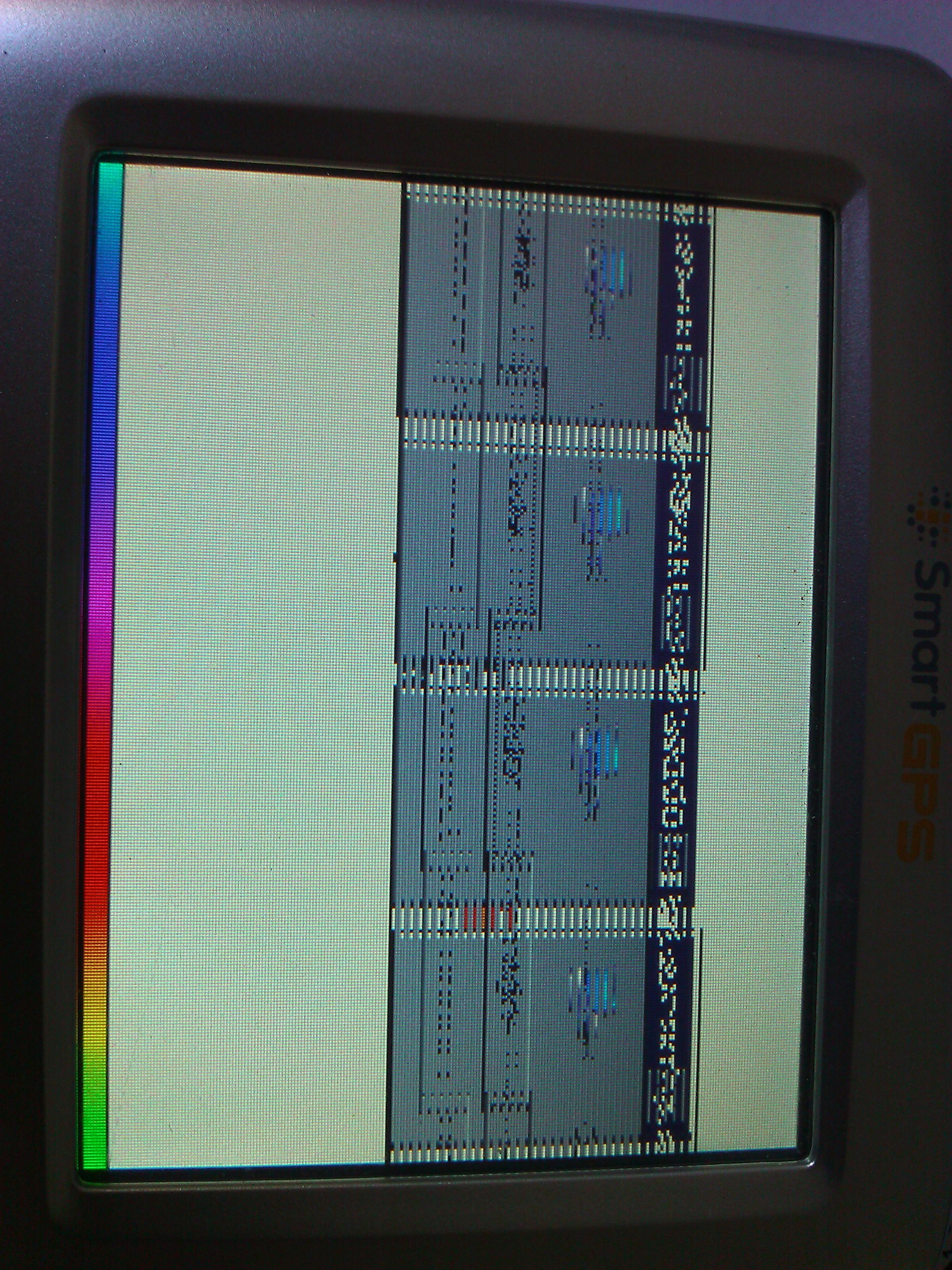 SmartGPS SG320 - pocz�tkowo startuje, p�niej siada ekran