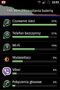 Samsung Ace - szybkie spadki procentu baterii i bardzo kr�tka praca na baterii