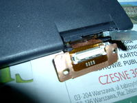 Laptop DELL C600, zwarcie przy matrycy