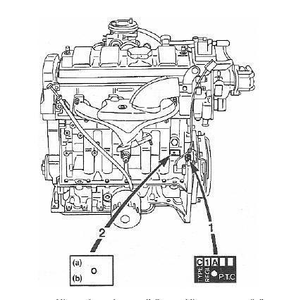 czujnik położenia wału korbowego - Peugeot 106