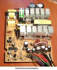 ProComp model: KY-400W spalone tranzystory Q1 i Q2 ?