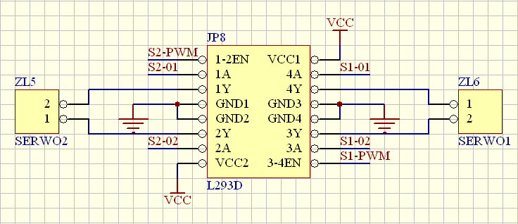 [C][atmega16] L293D zmiana kierunku obrotow w petli while