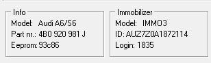 Audi A6 2.5 V6 TDI - Potrzebny wsad licznik 4B0 920 933G ver12