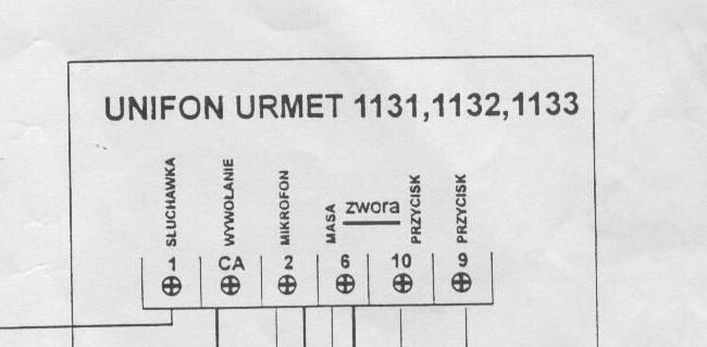 Domofon urmet schemat for Urmet 1133 schema