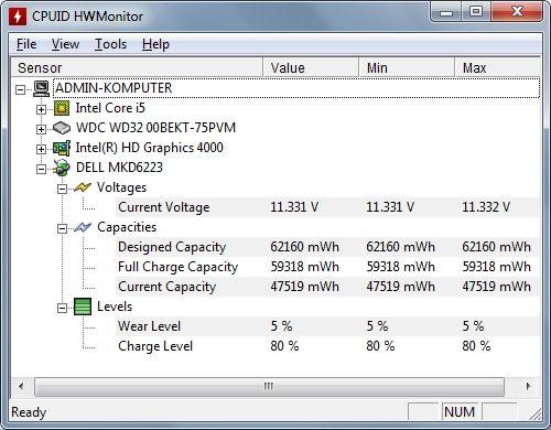 E6530 - Bateria nie ładuje się, poziom 80%, laptop gaśnie, dioda miga na pomarań