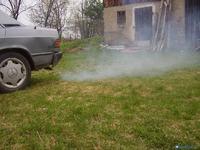 Mercedes 190D - Kopcenie jak przy niewłaściwym spalaniu