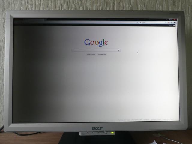 Acer AL2416W - ciemna lewa strona pod�wietlenia