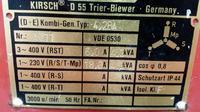 Agregat - Identyfikacja prądnicy