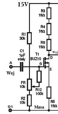 Budowa wzmacniacza audio w klasie A