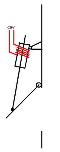 Elektromagnes 230V podnoszący drzwiczki