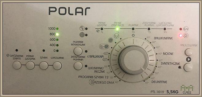 Polar PTL 1019 - błąd, awaria świecą się kontroli błędu.