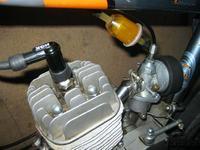 Silnik rowerowy - regulacja gaźnika.