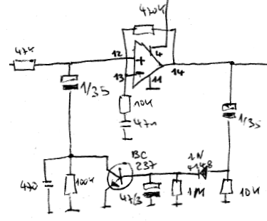 Mic Agc Schematic on electret microphone amplifier circuit diagram