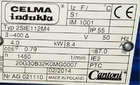 2SIE 112M4, INDUCTA - Pod��czenie z falownikiem