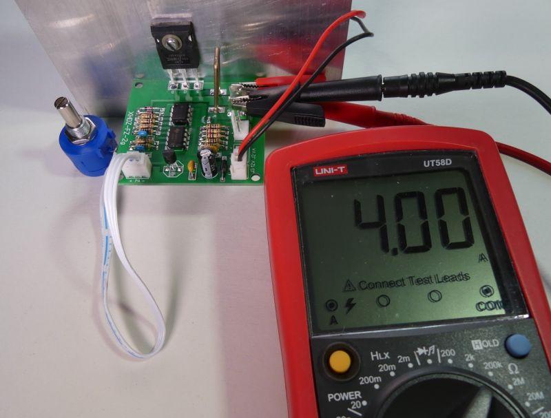 Moduł elektronicznego obciążenia 100V, 10A, 75W, uruchomienie, test