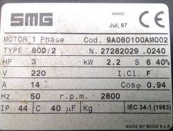 Dobór kondensatora dla silnika 1-faz.