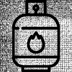 """""""Czujnik"""" poziomu gazu (propan-butan) w butli."""