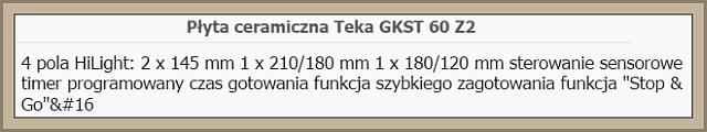 Płyta ceramiczna Teka GKST 60 Z2 Select FB - Nie włącza się