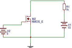 IRF540 - Wysterowanie tranzystora MOSFET