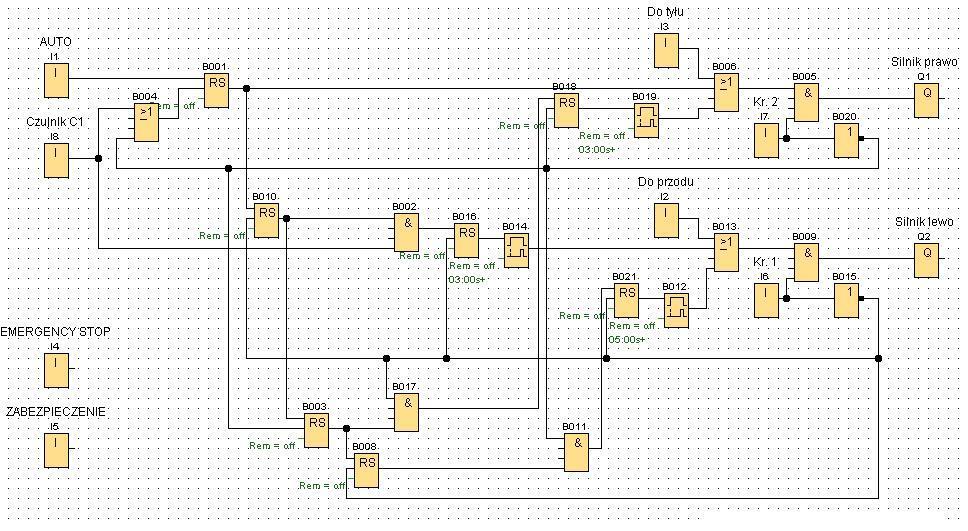 Program do zgarniaka LOGO 230RC Siemens
