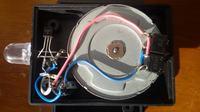 Latarka LED zasilana silnikiem krokowym