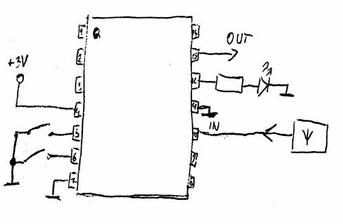 Uk�ad scalony z wyzwalacza radiowego (foto)
