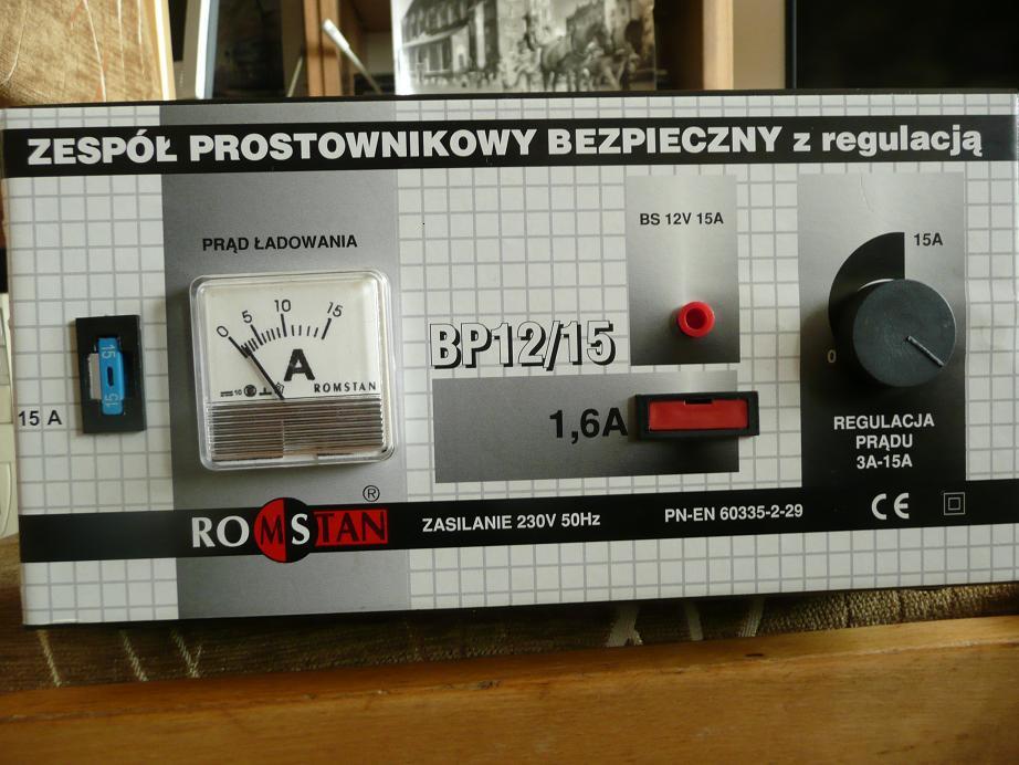 Prostownik Romstan bp12/15 nie �aduje powy�ej 2 amper�w
