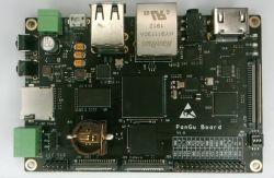PanGu - jednopłytkowy komputer oparty o STM32MP1