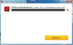 Nie mogę zaistalować Adobe Reader - Twierdzi że jest juz nowsza wersja.