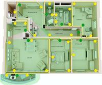 Automatyczne oświetlenie domu oparte na LED 12V i regulowanych czujnikach ruchu