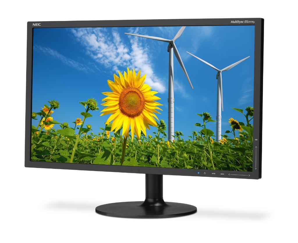 NEC MultiSync EX231Wp - monitor z matryc� PVA do zastosowa� biznesowych