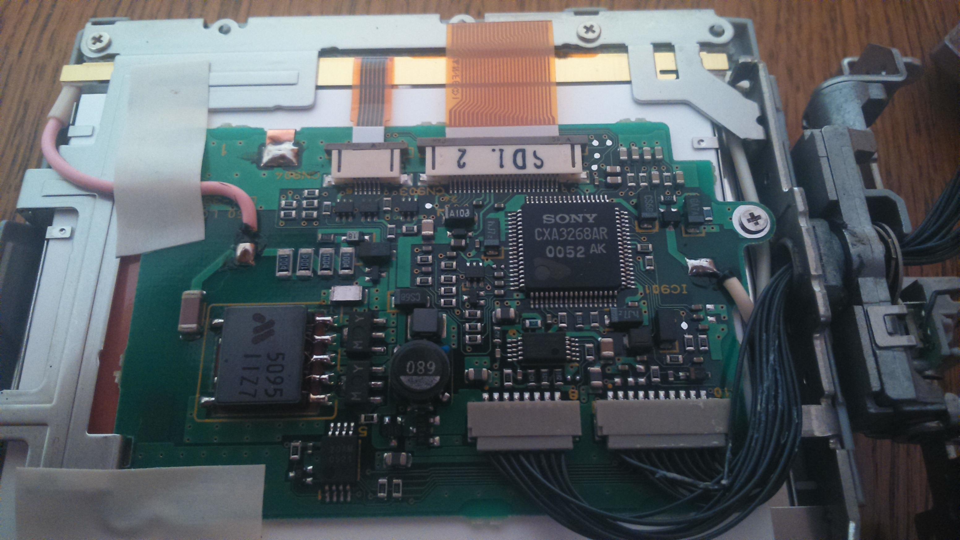 canon MV30 - monitorek od uszkodzonej kamery - ponowne wykorzystanie..
