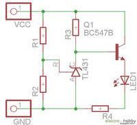 Wskażnik rozładowania akumulatora Li-Po 7.4v