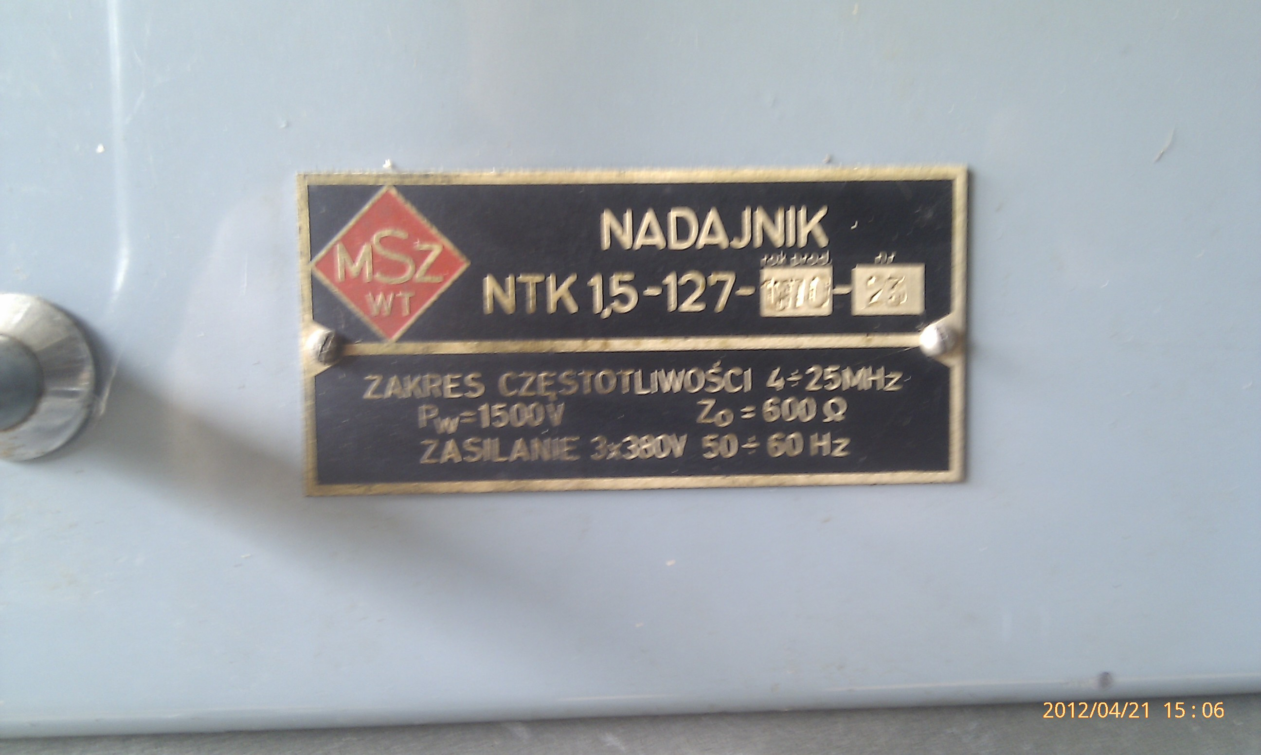 Nadajnik Wojskowy MSZ WT - NTK 1,5-127