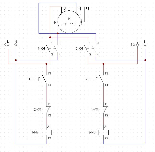 Za��czanie pompy z dw�ch �r�de� zasilania 230V