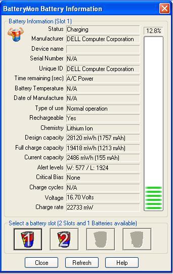 Dell X300 - bateria trzyma 12 min. regeneracja