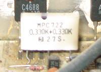 Amplituner przepalona częsc termistor albo cos innego pomoc
