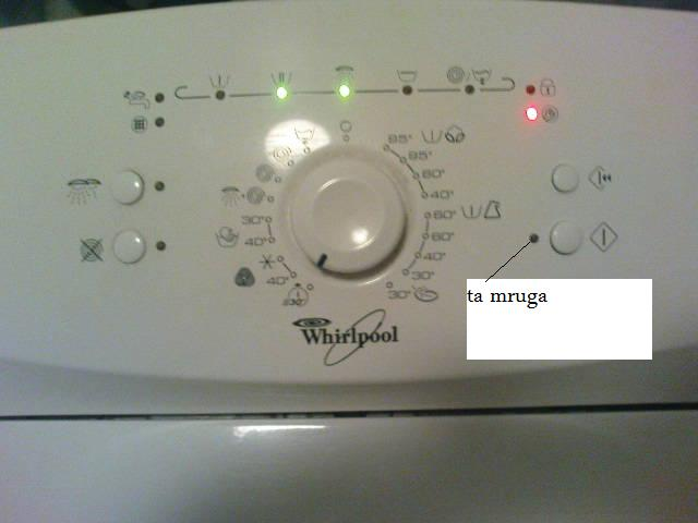 Poważnie Pralka Whirlpool AWE 2316 zapala się lampka servis EC35