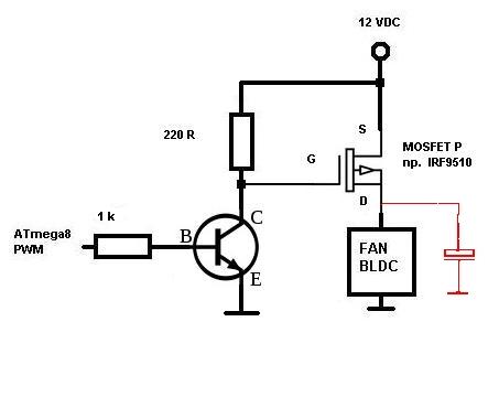 [ATmega8][C] Wentylator sterowany PWM + pomiar obrotów (rpm)