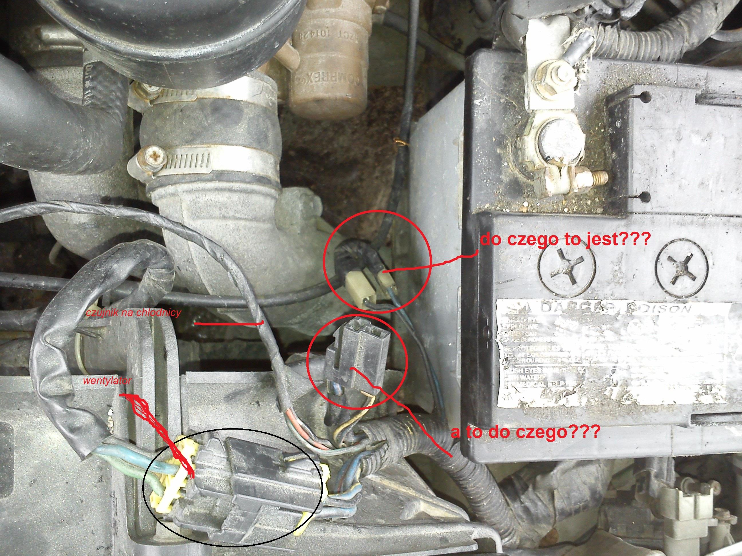 Mazda 2.0 comprex  -  schemat instalacji, pod��czenie kostek.