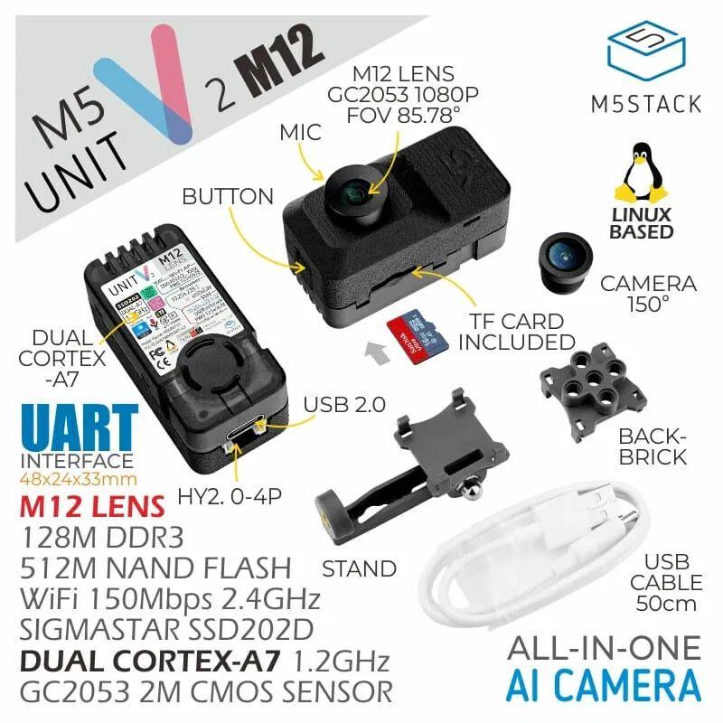 Moduł AI M5Stack UnitV2 otrzymuje wersje z kamerą USB i kamerą M12
