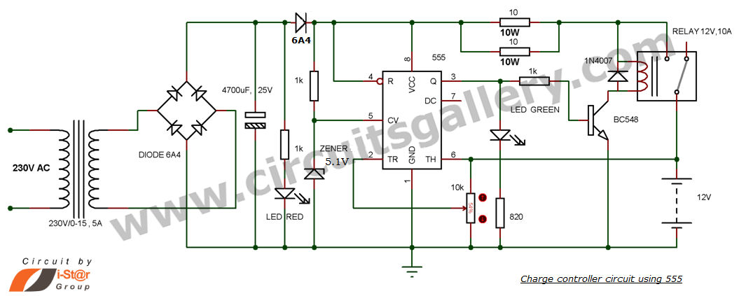 on 12v Lead Acid Battery Charger Circuit Diagram