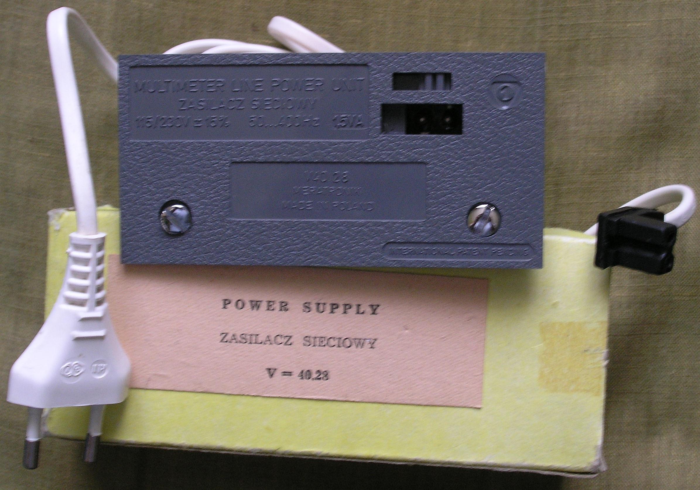 Meratronik V640 - pytanie o zasilacz