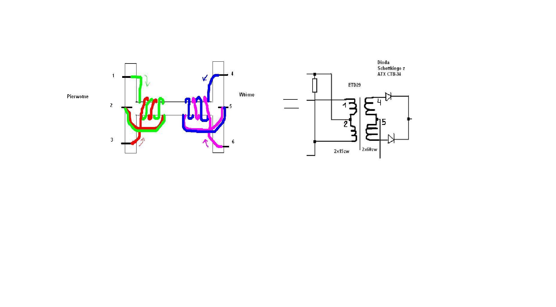 Przetwornica push-pull 12V DC na 36V DC