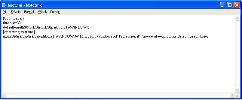 Urychamianie Systemu Windows XP SP3.