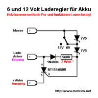 Prosty tyrystorowy regulator 12V