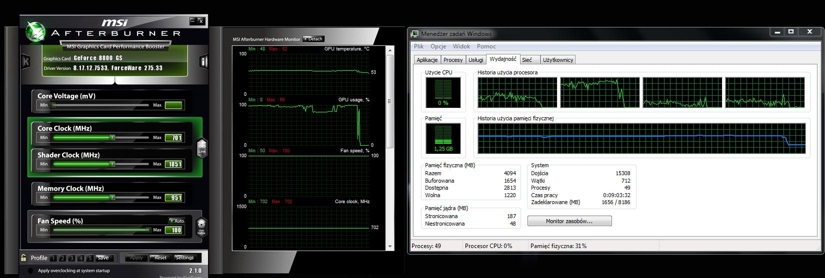 Palit GTS450 1024 GDDR5 Podkr�canie.