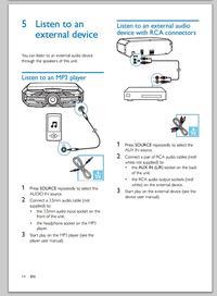 Philips FX25/12 - Jak podłączyć słuchawki do miniwieży Philips FX25/12