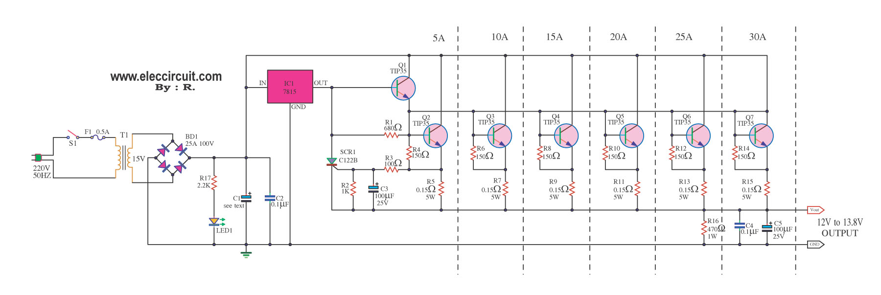 0 12v Variable Power Supply Circuit Diagram November Archive Page Of Lm7805 Powersupplycircuit Seekiccom Adjule Schematic Lm3914n 1 Arduino Programming