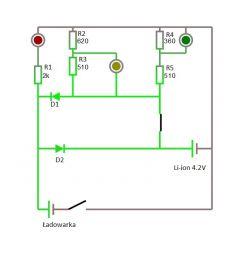 Wskaźnik naładowania akumulatora LED - zmiana zakresu
